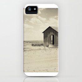 Abandoned Dust Bowl Home  iPhone Case