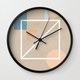 Behind - Earth colors simple minimalist art Wall Clock