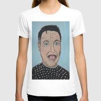 robin williams T-shirts featuring Robin Williams Portrait by Tania Allman Art