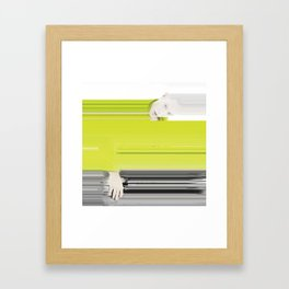 GLTCH Framed Art Print