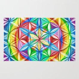 Shimmering Wheel - The Mandala Collection Rug