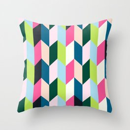 Playful Geometry Throw Pillow