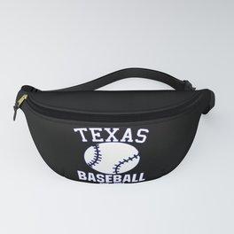 Texas Bay Baseball USA Gift Present Idea Fanny Pack