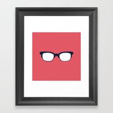 Sun Glasses on Red Framed Art Print