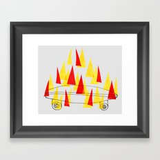 Flaming Skateboard Framed Art Print