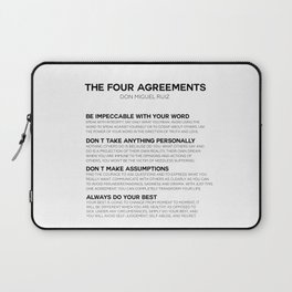 the four agreements Laptop Sleeve