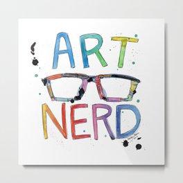 ART NERD Metal Print