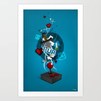 gaming Art Prints featuring I ❤ GAMING by Mikhail St-Denis