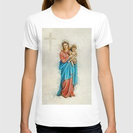 Virgin Mary And Jesus T-shirt