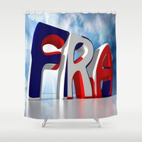 france Shower Curtains featuring France by Carlo Toffolo