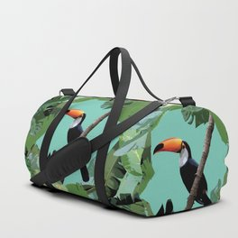 Toucan and leaves Duffle Bag