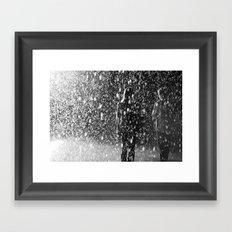 rainfall of love Framed Art Print