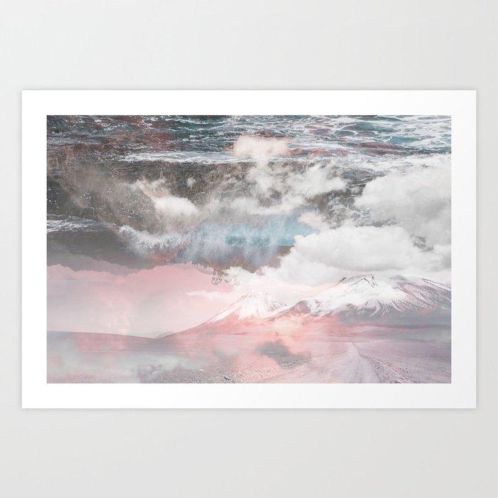 Crashing Clouds Art Print