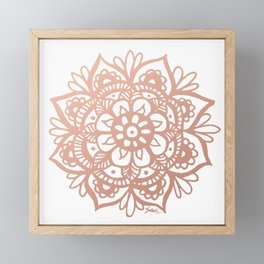 Rose Gold Mandala Framed Mini Art Print