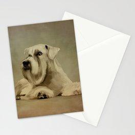 White Miniature Schnauzer  Stationery Cards