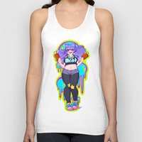 meat Tank Tops featuring MEAT by Ferret Party