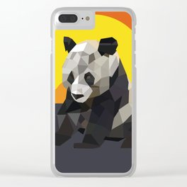 Panda and the sunset Clear iPhone Case