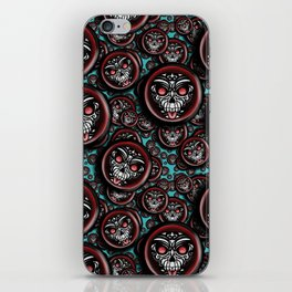 Cute Skull Maori iPhone Skin