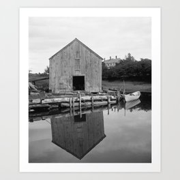 Old Fish House Art Print