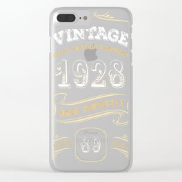89th-Birthday-Gift-Gold-Vintage-1928-Aged-Perfectly Clear iPhone Case