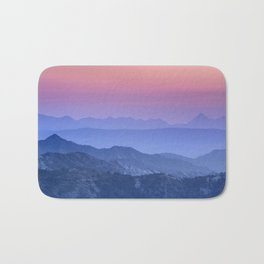 """Mountain dreams"". At sunset. Bath Mat"