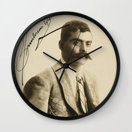 Emiliano Zapata with Signature, c.1915 Wall Clock