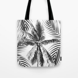 South Pacific palms II - bw Tote Bag