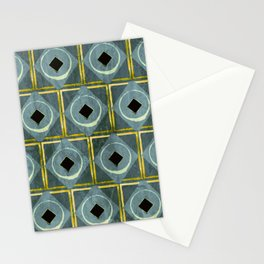 Grey Diamonds  Stationery Cards