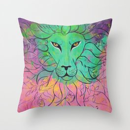 Lion -- Self Command Throw Pillow