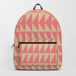Bold Triangle Pattern in Pink and Orange Backpack