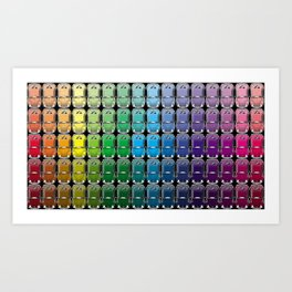 VW spectrum Art Print