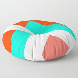 Living Coral - Minimal Geometric Pattern 1 Floor Pillow