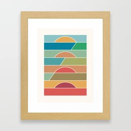 4 Degrees Framed Art Print