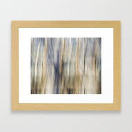 Soft Blue and Gold Abstract Framed Art Print