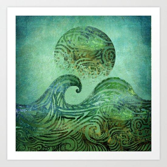 Tidal Moon Art Print