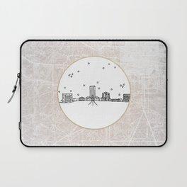 Tallahassee, Florida City Skyline Illustration Drawing Laptop Sleeve