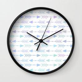 Watercolors illustration boho arrows pattern Wall Clock
