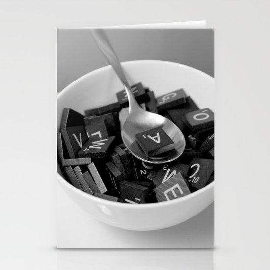 Alphabet Soup Stationery Cards