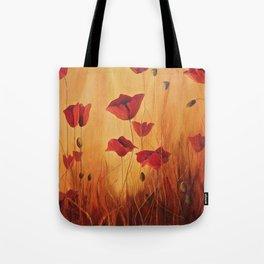 Ellie's poppies Tote Bag