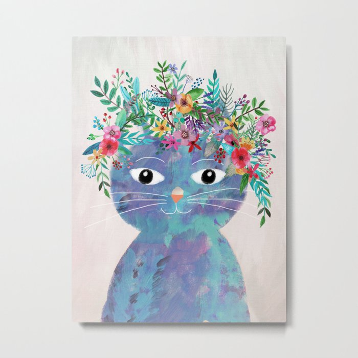 Flower cat II Metal Print