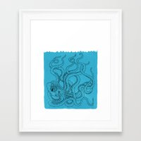 octopus Framed Art Prints featuring Octopus by David Penela