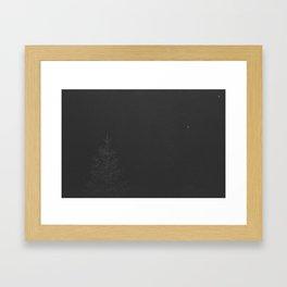 Tree in the dark Framed Art Print