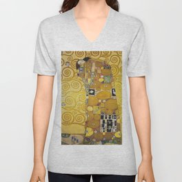 The Embrace - Gustav Klimt Unisex V-Neck