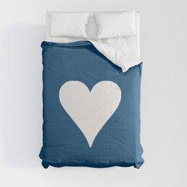 big heart and dark blue Comforters