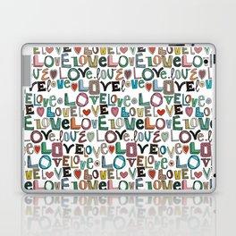 l o v e LOVE white Laptop & iPad Skin