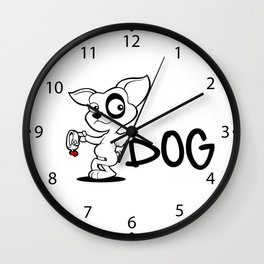 Cute dog cartoon adoption  Wall Clock