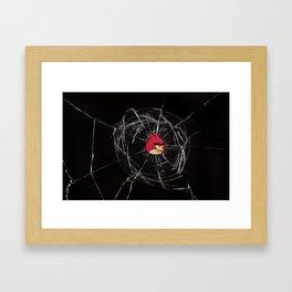 Angry Birds Breaking Glass Framed Art Print