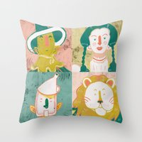 oz Throw Pillows featuring Oz by StinkyInky_Jess