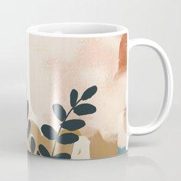 Abstract- Earthy Neutrals Coffee Mug