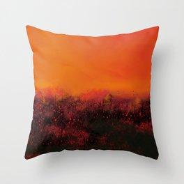 """The Burning Fields"" Digital Painting // Fine Art Print Throw Pillow"
